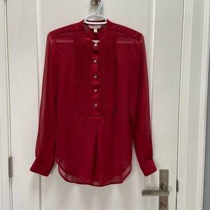 Banana Republic sheer blouse red size xs